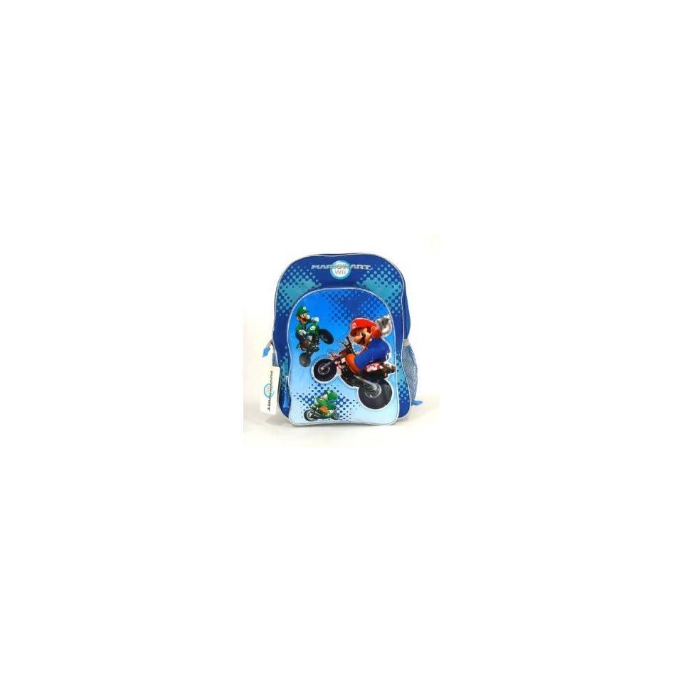 Nintendo Super Mario Bros. Wii Large School Backpack Bag