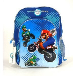 Nintendo Mariokart Wii Backpack  - Full Size Super Mario ...