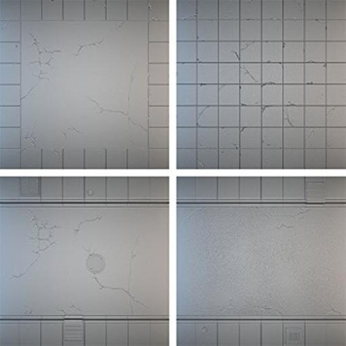 Tablescape Tiles - Urban Streets, Display Board - Clean (4) by Secret Weapon Miniatures