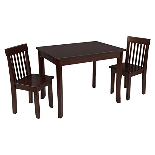 KidKraft Avalon Table II & 2 Chairs Set, Espresso