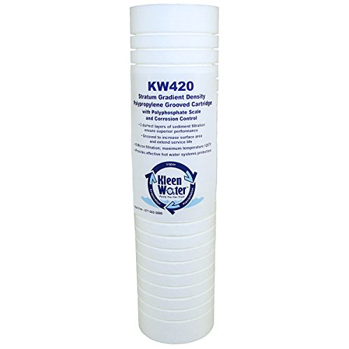 Water Hardness Scale - AP420 (5527407/55274-07) Hot Water Protector/Scale Inhibitor Alternative Replacement Water Filter Cartridge by KleenWater