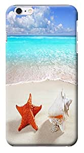 Fantastic Faye Cell Phone Cases For iPhone 6 No.16 The Fashion Design With Warm Sunshine Beach Blue Sky Clean Water Sea Star Beautiful Shell Slipper