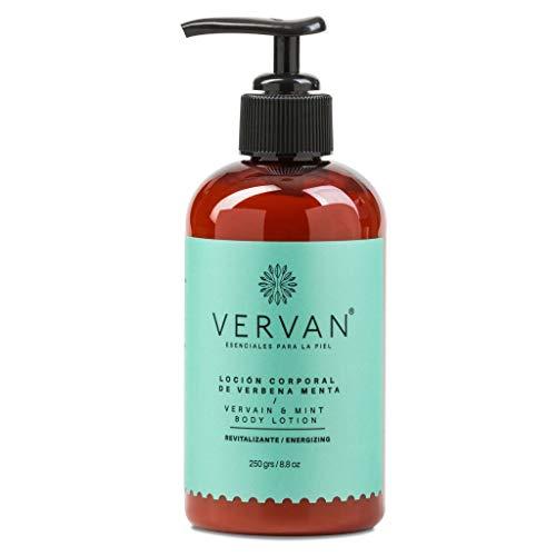 Vervan Loción Corporal de Verbena Menta 250 grs Hidratación Profunda Resfresca Sensación de Ligereza Para Piel Inflamada...