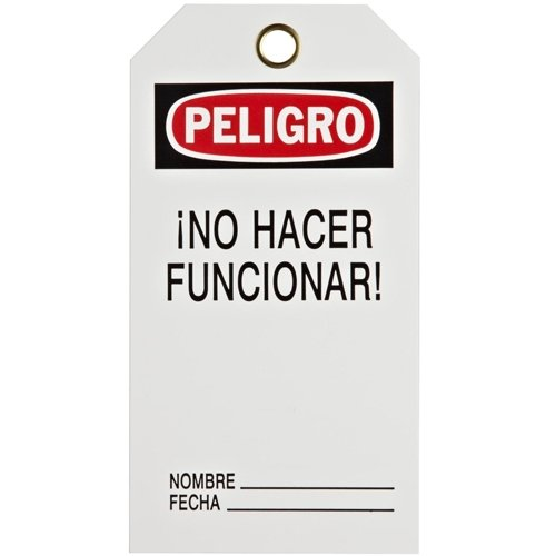 Brady 39445, B837 No Hacer Funcionar, 2 Packs of 25 Tags by Brady