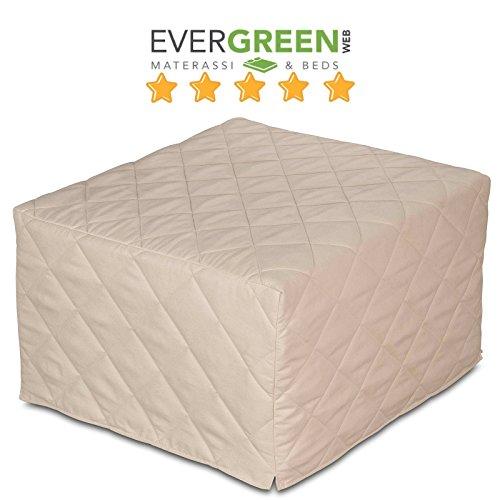 EvergreenWeb - Puf Cama Individual con colchón Poliuretano expandido Alto 10 cm - Suite - Salvaspazio Plegable para Camera, Dormitorio o salón, ...