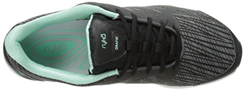 Black Women's Ryka Shoe Training Cross Grafik Grey Mint XxFqdv
