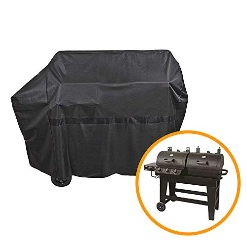 - iCOVER 65 Inch 600D Heavy-Duty Water Proof Black Canvas BBQ Barbecue Grill Cover for Gas and Charcoal Combination Style Grill G21609 for Brinkmann Char-Broil Nexgrill Char-Griller