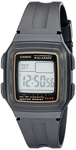 Casio Men's F201WA-9A Multi-Function Alarm Sports - Timer Watch Digital Countdown