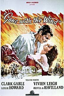 Gone With The Wind Italian Clark Gable Huge Vintage PAPER Mo
