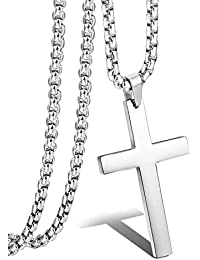 Jstyle Jewelry Mens Simple Cross Necklace Stainless Steel...