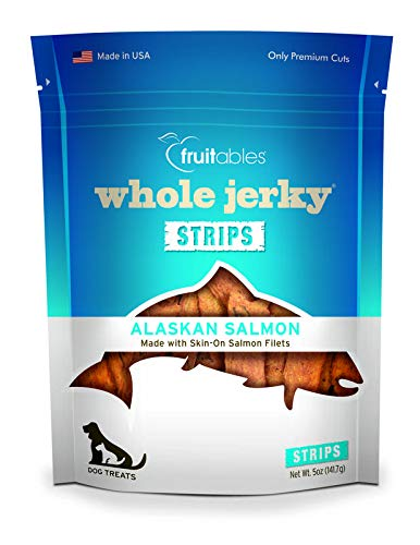 Fruitables Whole Jerky Alaskan Salmon Dog Treats - Alaskan Salmon Treats