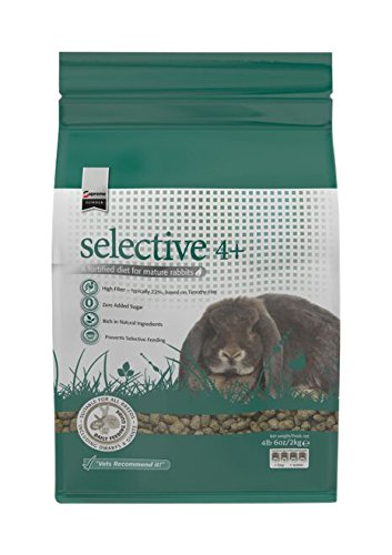 Supreme Petfoods Science Selective Food for 4 Plus Years Old Rabbit, 4 lb, (Selective Rabbit Food)