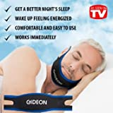 Gideon™ Adjustable Anti-Snoring Chin Strap – Natural and Instant Snore Relief – Stop Snoring Solution - Natural, Fast and Simple
