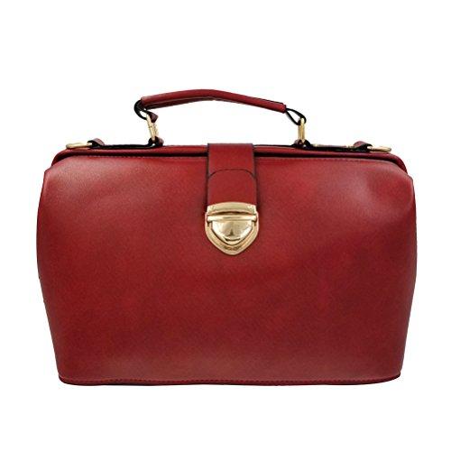 Donalworld Women Vintage Hobo Doctor Style Pu Leather Shoulder Bag (Doctor Style Bag)