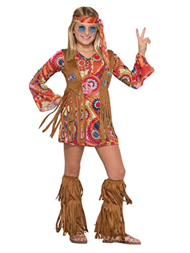 Forum Novelties Kids Peace Lovin Hippie Costume, Multicolor, Large