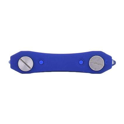Llavero compacto y premium - Caja de almacenamiento de llavero - Clip de bolsillo de estilo único, porta llaves para 12 llaves, herramienta ...