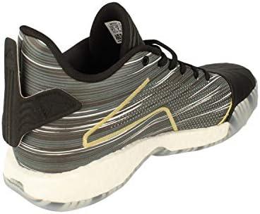 adidas TMAC Millenium Hommes Basketball Trainers Sneakers (UK 16 US 17 EU 52 2/3, Core Black Metallic Gold EE3678)