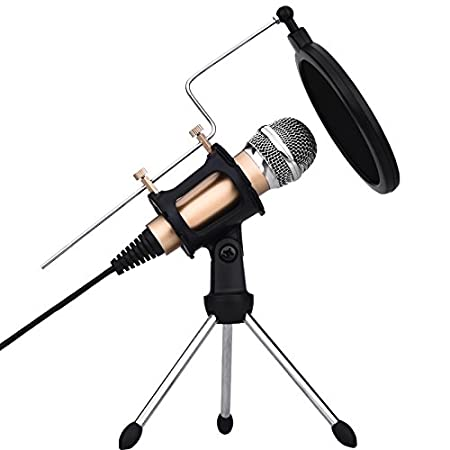 USB Microphone, Microphones for Computer Desktop Laptop Notebook Plug & Play for Recording, Gaming, Podcasting, Online Chatting by XIAOKOA (M20) M3-ALL