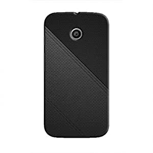 Cover It Up - Leather Stiched Moto E Hard Case