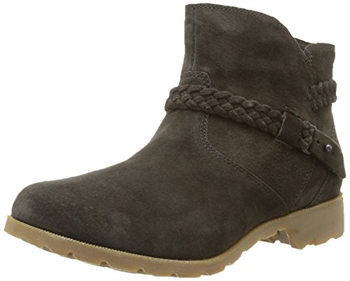 Teva Women's W Delavina Suede Ankle Boot, Black Olive, 8.5 M US