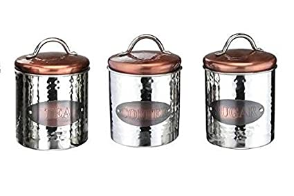 Tea Coffee Sugar Kitchen Storage Canisters Jars Pots Containers Tins from  Walmart | Real Simple