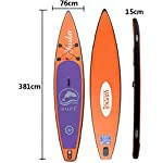 DIMPLEYA-SUP-Paddle-Bordo-Gonfiabile-125ft-Up-Paddle-Tavola-Facile-Spessore-Colore-Arancione-Dimensioni-381x76x15cmArancia381x76x15cm