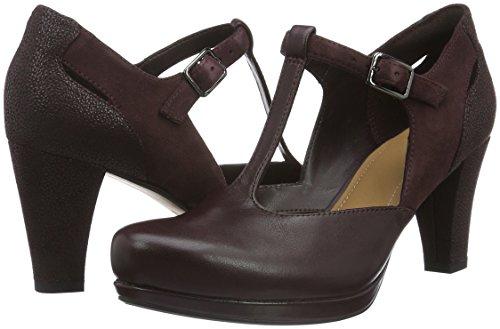 Leather Zapatos Para Morado Chorus Mujer Tacón Clarks aubergine De Gia BqFCgRnwH