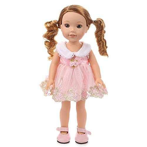 Gbell 18 Inch Doll Beautiful Princess Dress Suit for American Girl Our Generation Doll Clothes Outfits,18 Inch Baby Girl Doll Cute Clothes Accessories for Little Girls Gifts