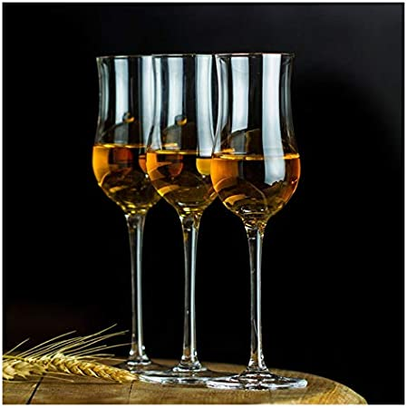 Story Scotch Highlan Whiskey Copita Nasting Glass Fit para Sommelier One Malt Whisky Tasting Cup Brandy Snifters Tulip Goblet Match Lid (Capacity : 170ml, Color : 2 Pcs Glass)