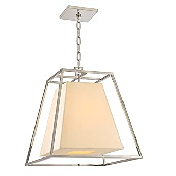 hudson valley lighting kyle 4 light pendant polished nickel finish with cream eco - Hudson Valley Lighting