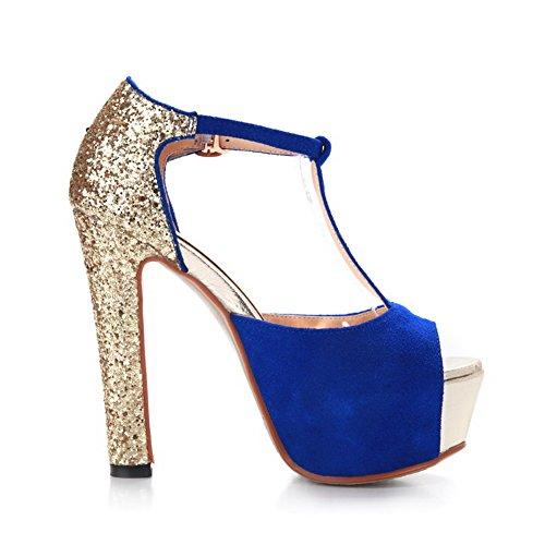 1TO9 , Sandales pour femme - Bleu - bleu, 38