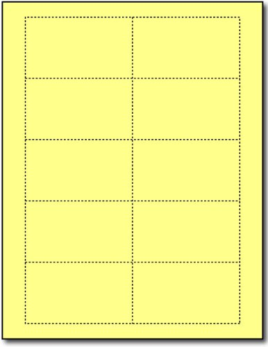 Plain Yellow 110lb Index Business Cards - 250 Sheets / 2500 Business Cards by Desktop Publishing Supplies, Inc. (Image #1)