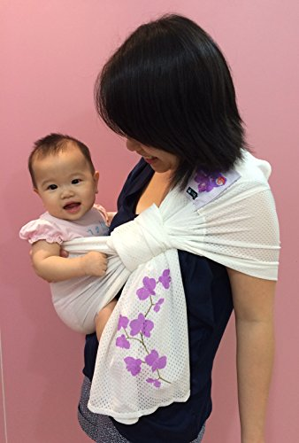 Lucky Baby Ring Sling with Breathable, Quick-Dry Mesh Fabric, Fashionable & Adjustable Carrier, Perfect for Summers, Beach, Pool & Shower. Suitable for Infants-Toddlers & all yr Babywearing. - Gear Running Singapore