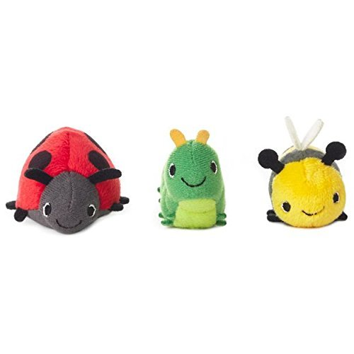 (Hallmark Happy Go Luckys Toddler Toys, Small Stuffed Animals, Bugs Lady Bug Bumble Bee Caterpillar, Set of)