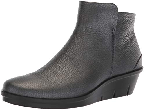 Boot Black Dark Metallic Ankle Wedge Skyler ECCO Women's Silver xnqpIXv