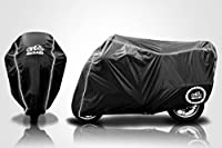 Breathable Motorcycle Cover W/elastic Bottom. Premium Heavy Duty Outdoor Waterproof All Season Polyester W/soft Screen Shield. Universal Heat Resistant Lockable Fabric That Is Durable & Long Lasting. Black Blue Red & Green. Fits Sportbikes & Cruisers