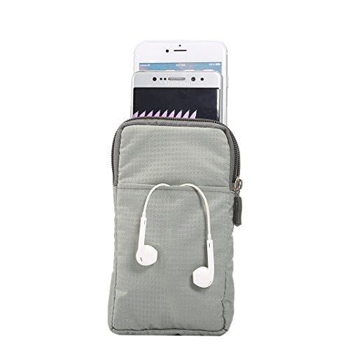 Universal Sports 0 Nylon Moon Waist 6 Multi X 7 Outdoor Zipper 6 Pouch 8 Travel Plus Plus Holster Crossbody Inch Cellphone 8 6S iPhone mood Grey Huawei Plus Edge for Phone 7 function S7 S7 Galaxy S8 Bag rqx0EwPXr