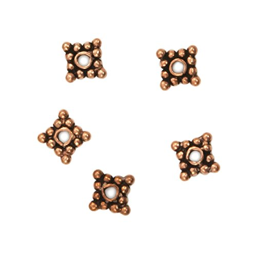 Designer Copper Bead Spacer 7x2mm (5-Pcs)