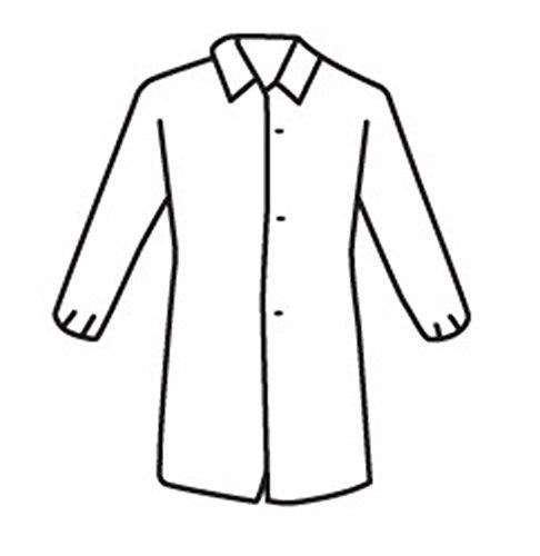 West Chester 3512 2XL Polypropylene WGT Sbp Lab Coat El.Wrt No Pocket, White, 2XL (Pack of 30)