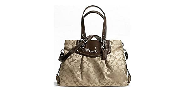 Amazon.com  Coach Signature Ashley Carryall Tote in Khaki (Khaki)  Beauty 7304540bafc3e