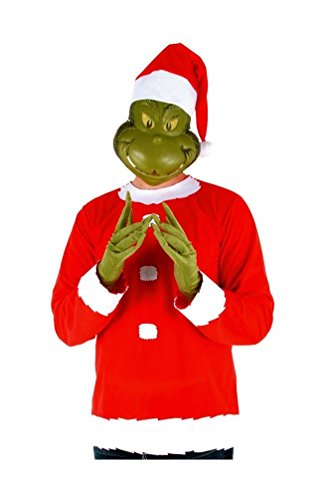 Grinch Adult Plus size Costume (Grinch Halloween Costume)