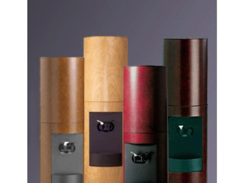 Cima Canadian Cherry Wood Bottleless Water Cooler with Brown Stain and Furniture Finish by Aquaverve (Image #2)