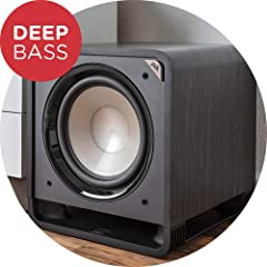"""The Polk hts 12 subwoofer enhances home theater and music listening with powerful Deep bass. It Features a long-throw dynamic balance 12"""" driver, patented power port technology and a state-of-the-art 400W class D amplifier. Easily to access c..."""