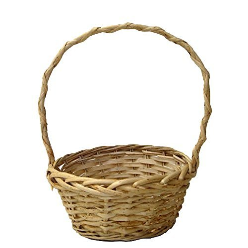 Vintage & Retro Handbags, Purses, Wallets, Bags The Lucky Clover Trading Natural Willow Handle Basket $21.28 AT vintagedancer.com