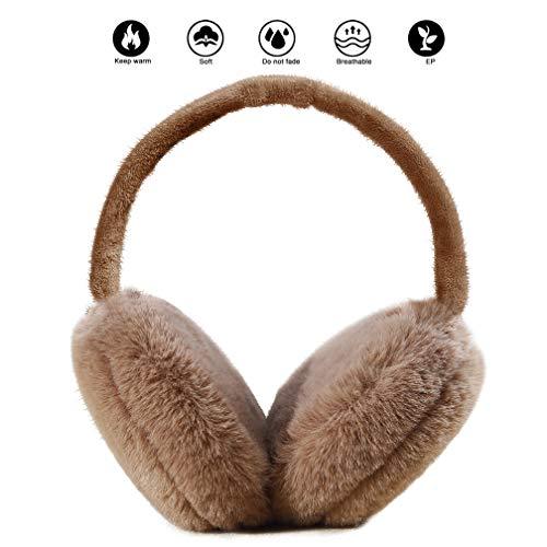 Ear Muffs for Adults Foldable Soft Ear Warmers Adjustable Wrap Winter Earmuffs