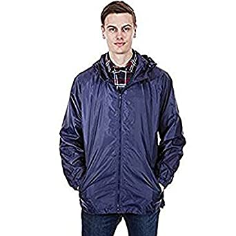 4970549acd Mens Kagool Cagoules Shower Proof Hooded Coat Kag In A Bag S M L XL XXL BNWT  (