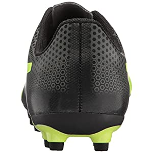 PUMA Unisex-Kids Spirit FG Soccer-Shoes, Black-Fizzy Yellow-Castor Gray, 5.5 M US Big Kid