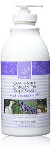 Janice Goat's Milk and Argan Oil Body Wash, Lavender, 27.05 Fluid (Goats Milk Body Wash)