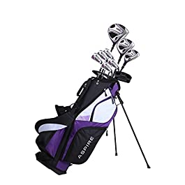 Premium Lightweight Ladies Golf Club Set Right Hand – Cherry Pink Purple, Standard, Petite, Tall, Clubs with Lady Flex