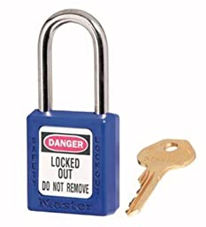 Master Lock 410KABLU2KEY Safety Series Padlock for Lockout/Tagout Applications, Blue
